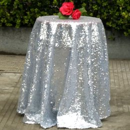 Wholesale Champagne Chair Cover - Latest Roll Table Cover Size 100CM Sequin Lace Poseur Table Covered For Western Wedding Prom Party