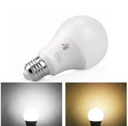 Wholesale A19 Warm White - 12W E27 E26 Led Bulbs Globe Lights A19 A60 Dimmable Led Lamps AC 85-265V NEW White plastic Aluminum Light
