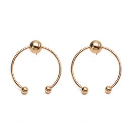 Wholesale Cheap Hoop Earrings Wholesale - Fashion jewelry round stud earrings for women silver & gold alloy open hoop earrings wholesale cheap jewelry irregular geometry shape korean