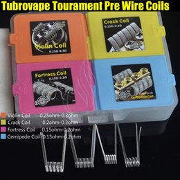 Wholesale Wholesale Organic Handmade - Newest Tubrovape Tourament Heating Wire Coils Frotress Violin Cemipede Crack Handmade Pre Building with organic cotton RDA RTA Portable Coil