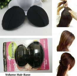 Wholesale Bump Hair - Wholesale- 2 Pcs Lot Hair Base Bump Styling Insert Tool Volume Bumpit Princess Base Insert updo BB petit pin Styling Tools