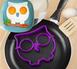 Wholesale Silicone Rabbit Molds - Silicone Egg Shaper Egg Mold Cooking Tools Pancake Molds Ring Rabbit Skull Owl Kitchen Gadget DHL free ship
