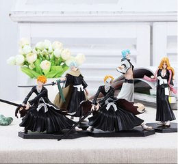 Wholesale Anime Figure Bleach - Anime Cartoon Model Kurosaki Ichigo Bleach Toy Matsumoto Rangiku Ki Shiraishiya Models Action Figures Children Decoration Best Gift 40rc H1