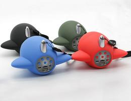 Wholesale Wholesale Small Radio Speaker - 2017Cartoon small airplane model airplane model propeller wireless bluetooth speaker portable mini low sound gun creative acoustics by dhl