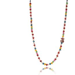 Wholesale Rainbow Links - TL Top Quality Stainless Steel Bear Necklace Natural Rainbow Stone Popular Necklace For Women Unique Jewelry