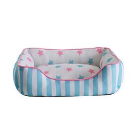 Wholesale Blue Dog Kennels - High Quality Blue  Pink 55*40cm Soft Warm Dog Bed Kennel House Pet Puppy Cat Nest Mat Pad 55cm x 40cm M Size