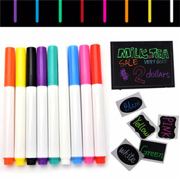 Vente en gros 1PC 9 couleurs RoundChisel pointe Highlighter Liquide marqueurs de craie pour LED Writing Board Glass Window Art Peinture à partir de fabricateur