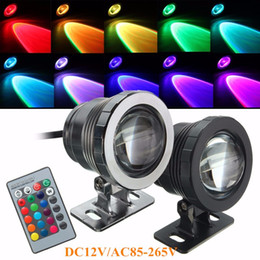 Wholesale Led Pool Pond Lights - Wholesale-5W RGB LED Light Fountain Pool Pond Spotlight Underwater Lamp Waterproof IP68 With Remote Control AC85-265V DC12V