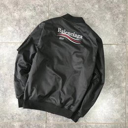 Wholesale Womens Bomber Jacket Xl - 2017 Winter mens Ma1 Bomber jackets fashion casual Brand jeans men womens clothing streetwear outerwear Baseball Coats