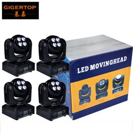 Wholesale Led Special Effects Lighting - Freeshipping 4XLOT Mini Plastic Shell RGBW Double Face Led Moving Head Light Special Wash Effect 25 Lens Angle 8 8W Taiwan Tianxin 90V-240V