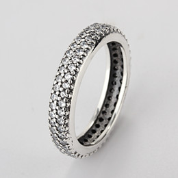 Wholesale Engagement Ring Charms - 2017 Rushed Sale Women Party Round Anillos Endeli Wholesale Europe Ring Fashion Jewelry Fit Pandora 925 Rings Charm Retro