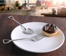miroirs de café Promotion 304 vaisselle en acier inoxydable Épaissir le café cuillère à crème glacée fourchette à fruits pour enfants