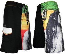 Wholesale European Style Swimsuits - New Men's Board Shorts Surf Bob Marley Style Boardshorts Beachwear 2017 Swim Shorts Bermuda Men Swimwear Swimsuit Mix Sizes