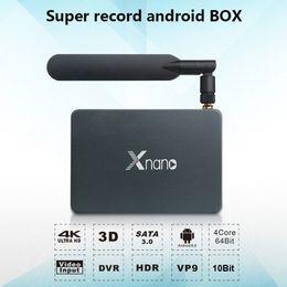 Wholesale Core Ac - SATA 3.0 Android Smart TV Box Supports DVR 2.4G 5.8G AC Wifi RTD1295 Quad-Core DDR4 2GB 16GB 1G 8G Dolby DTS HD Xnano X5 Media Player BT4.0