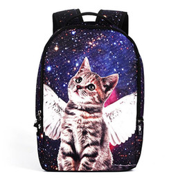 Wholesale Cute Bags For Girls Travel - Casual Nylon Backpacks 3D Animals School Bags for Teenagers Girls Cute Pet Cat Backpack Female Travel Backpack Rucksack