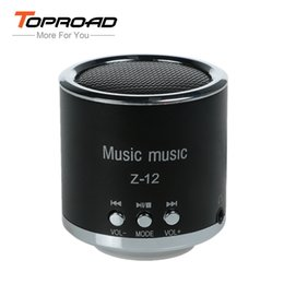 Wholesale Micro Sd Plastic Box - Wholesale- TOPROAD FM Radio Speaker USB Micro SD TF Card Mp3 Mini Wired Speakers Cloumn Subwoofer Stereo Bass Music Box for Computer PC