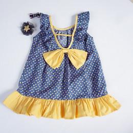 cdee2a100165 2019 diseños lolita Regalo gratis Trendy Impreso Big Bow 100% algodón  Vestido para niñas Boutique