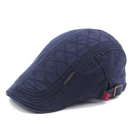 Wholesale Sunshade Caps - Men's cotton hat Retro outdoor sunshade Hat Beret peaked cap