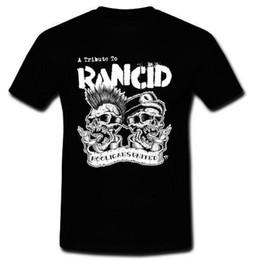Wholesale United Tees - 2017 Fashion A Tribute To RANCID Hooligans United Punk Ska Rock T-shirt Tee S M L 2XL Cartoon Hip Hop Shirt