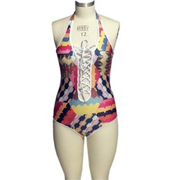 Wholesale Sexy Adult Figures - 2017 New Sexy tied rope adult swim figures Women's swimwear swimming trunks Poly chest one piece swimsuits swim suit D024