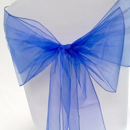 Wholesale Organza For Wedding Decoration - Beautiful Organza Bows For Wedding Chair Sashes For Wed Events Supplies Party Decoration Chair Cover Sash Various Colors To Choose