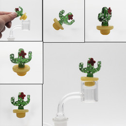Wholesale Ufo Cap - Solid Colored Glass cactus UFO Carb Cap dome for glass bongs water pipes dab oil rigs Thermal P Quartz banger Nails