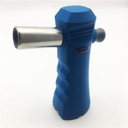 2019 encendedor electronico verde Blue Gas Trip Micro Blow Torch Cocina Encendedor de soldadura Bbq al aire libre Camping Soldadura Brazing Herramienta de gas recargable Blue Lighters
