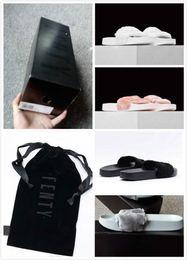 Wholesale Cheap Women Bag Fashion - (With Box+Dust Bag) Wholesale Cheap New RIHANNA LEADCAT FENTY WOMEN SLIPPERS Girls Fashion Indoor Slide Sandals Scuffs Grey Pink Black White