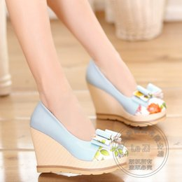 Wholesale Discount Pink Heels - Non Slip Super High Heels Bowknot Fashion Shoes In Small Sizes For Women Woman Wedges Platform 41 Size 34 Discount Teenage Girls