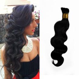 Wholesale Body Wave Hair For Braiding - Brazilian Body Wave Human Braiding Hair Bulk 1 piece Natural Color Bulk Hair for Black Women G-EASY