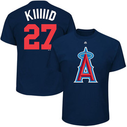 """Wholesale T Shirt S Printing Machine - 2017 MLB Los Angeles Angels Mike Trout """"Kiiiiid"""" Albert Pujols """"The Machine"""" Players Weekend Name & Number T-shirt jersey"""