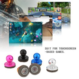 Wholesale Wholesale Touchscreen Tablet - Mini Joystick Game Hydraulic Handle Wireless Controller for Touchscreen iPad Rocker Tablet Arcade Smart Phone Joystick-It Sticker T931