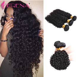 Wholesale Virgin Hair Weave Sale - On Sale Brazilian Virgin Hair Weaves Deep Wavy Curly 3Pcs Lot Brazilian Curly Remy Hair Weave 100G Bundle Human Hair Extensions Deep Curly
