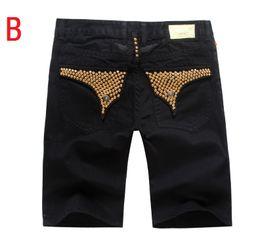 Wholesale Mens Gold Bead - hot sale mens robin jeans summer styles robin shorts jeans for men us famous brand jeans denim blue size 32-42