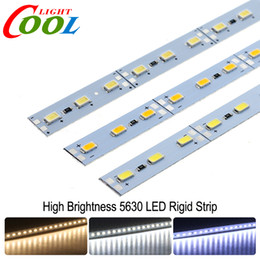 Wholesale Led Light Bars For Showcases - LED Bar Light 5630 DC12V 36LEDs 50cm High Brightness LED Hard Rigid Strip For Kitchen Under Cabinet Showcase 10pcs lot