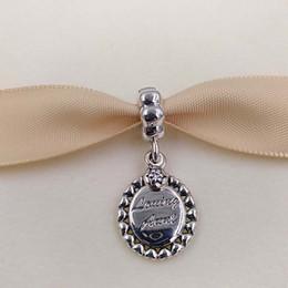 Wholesale Big Flat Beads - Authentic 925 Sterling Silver Beads Loving Aunt Pendant Charm Fits European Pandora Style Jewelry Bracelets & Necklace 791277CZ big hole