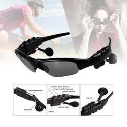 Lunettes de soleil pour écouteurs en Ligne-Lunettes de soleil casque lunettes intelligentes Stéréo Sports Sans fil Bluetooth V4.1 casque mains libres écouteurs Musique Lecteur pour Samsung