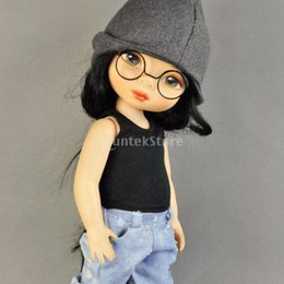 Wholesale Birth Cool - Top Selling Round Frame Lensless Fashion Retro cool doll glasses for 1 6 30cm BJD Doll Accessories 2 color 1-10