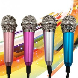Wholesale Karaoke Laptop Microphone - 3.5mmCute Portable Mini Microphone Stereo Condenser Mic For iPhone IOS Android Smartphone PC Laptop Chatting Singing Karaoke