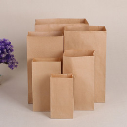 Wholesale Boutiques Paper Bags - 24*13*8cm Kraft Paper Bags Recyclable Gift Jewelry Food Bread Candy Packaging Shopping Party Bags For Boutique ZA4532