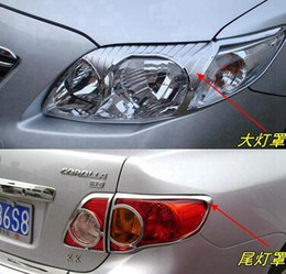 Wholesale Toyota Corolla Fog Lamps - High quality ABS with Chrom car headlamp cover trim, taillight cover trim, front fog lamp cover for Toyota corolla 2007-2010