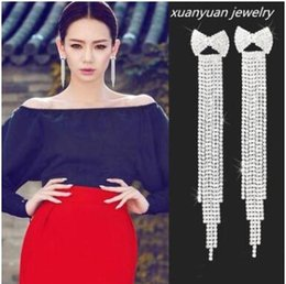 Wholesale Sterling Silver Sexy Earrings - European and American fashion sexy national tassel ambition big diamond club exaggerated personality earrings stud earrings