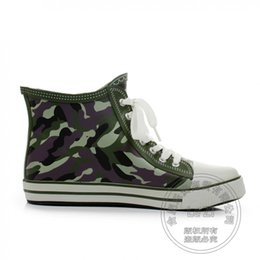 Wholesale Low Stylish Heels - Wading Outdoor New Arrival Preppy Tie Up Small Fresh Youth Rain Men Boots Stylish Mixed Color Low Heeled Flat Heel Camouflage