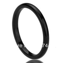 Wholesale Usa Polishes - yizhan Free Shipping Cheap Price Jewelry USA Brazil Russia Hot Sales His Her 2mm Black High Polished Classy Domed Tungsten Wedding Ring