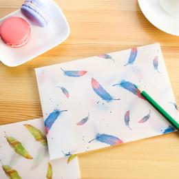 Wholesale Envelope Window - Wholesale- 40 pcs set Cartoon litmus paper gift Window Envelopes Planting Feather Transparent Color sobres envelopes Size 125*175mm 4 color