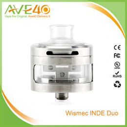 Wholesale Flow Designs - Authentic Wismec INDE DUO RDA Atomizer Airflow Control with Unique Vortex Flow Design Atomizer with 22mm and 30mm