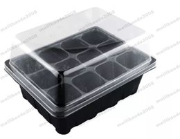 Wholesale Plastic Planting Trays Wholesale - Durable 12 Cells Hole Nursery Pots Plant Seeds Grow Box Tray Insert Propagation Seeding Case Mini Flower pots plug plant trays MYY