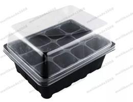 Wholesale Nursery Trays Wholesale - Durable 12 Cells Hole Nursery Pots Plant Seeds Grow Box Tray Insert Propagation Seeding Case Mini Flower pots plug plant trays MYY