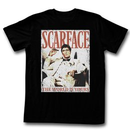 Wholesale Cool Cottons Shirts - SCARFACE MORE DA WORLD THE WORLD IS YOURS BLACK T-Shirt for Man Hipster O-Neck Causal Cool Tops
