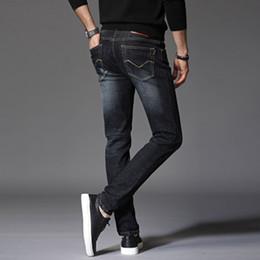 Wholesale Jean S Elasticity - Fashion Straight Jeans Men's Biker Jeans Hole Stretch Denim Casual Jean Men Skinny Pants Elasticity Ripped Trousers